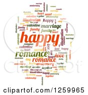 Clipart Of A Romance And Happy Word Collage On White Royalty Free Illustration by oboy