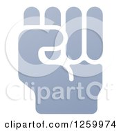 Clipart Of A Fisted Hand Royalty Free Vector Illustration by AtStockIllustration