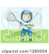 Caucasian Boy Lacrosse Goalie