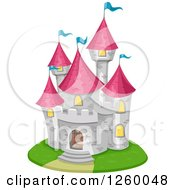 Clipart Of A Fairy Tale Castle Royalty Free Vector Illustration
