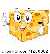 Happy Cheese Character Giving A Thumb Up
