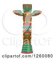 Clipart Of A Totem Pole Royalty Free Vector Illustration
