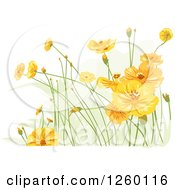 Clipart Of Yellow Wildflowers Royalty Free Vector Illustration
