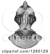 Clipart Of A Knight Helmet Royalty Free Vector Illustration