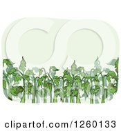 Clipart Of Bug Infested Plants Royalty Free Vector Illustration