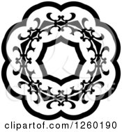 Black And White Medieval Lace Circle Design