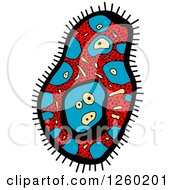 Clipart Of A Doodled Virus Or Amoeba Royalty Free Vector Illustration