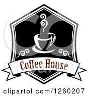 Clipart Of A Coffee House Design Royalty Free Vector Illustration