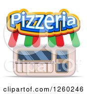 Clipart Of A Pizzeria Storefront Royalty Free Vector Illustration