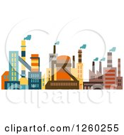 Clipart Of A Colorful Factory Royalty Free Vector Illustration