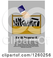 Poster, Art Print Of Hand Carrying A Tool Box With Diy Concept And Sample Text