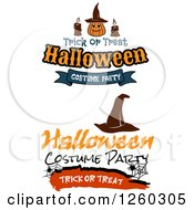 Clipart Of Halloween Designs Royalty Free Vector Illustration
