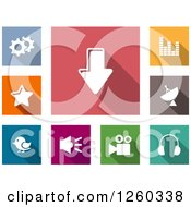 Clipart Of Square Colorful Internet Browser Icons Royalty Free Vector Illustration by Vector Tradition SM