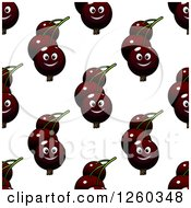 Clipart Of A Seamless Background Pattern Of Currantss Royalty Free Vector Illustration
