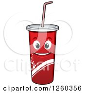 Clipart Of A Fountain Soda Character Royalty Free Vector Illustration