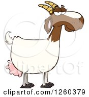Clipart Of A Red And White Female Boer Goat Doe Royalty Free Vector Illustration by Hit Toon