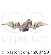 Cute Flying Blue Eyed Vampire Bat
