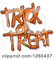 Clipart Of Orange Halloween Trick Or Treat Text With A Shadow Royalty Free Vector Illustration