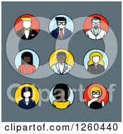 Clipart Of Round Avatar Icons Royalty Free Vector Illustration