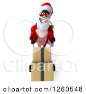 3d Super Hero Santa Moving Boxes On A Dolly