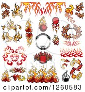 Clipart Of Fire Design Elements Royalty Free Vector Illustration