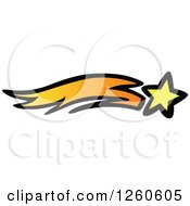 Clipart Of A Shooting Star Royalty Free Vector Illustration by Chromaco
