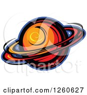 Clipart Of Planet Saturn Royalty Free Vector Illustration