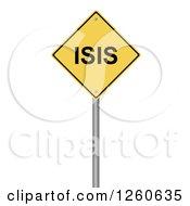 3d Yellow Isis Warning Sign