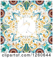 Clipart Of A Vintage Floral Background Royalty Free Vector Illustration