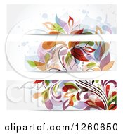 Colorful Floral Website Banners