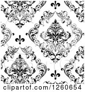 Background Of Ornate Black And White Vintage Floral