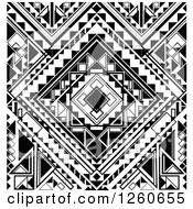 Clipart Of A Background Of Black And White Geometric Shapes Royalty Free Vector Illustration by OnFocusMedia
