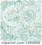 Background Of Blue Abstract Floral