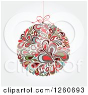 Retro Splash Christmas Bauble On Shading