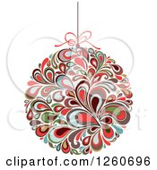 Clipart Of A Retro Splash Christmas Bauble Royalty Free Vector Illustration by OnFocusMedia