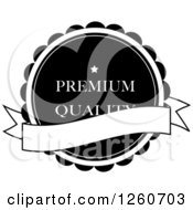 Premium Quality Label With A Banner