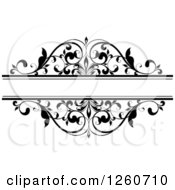 Clipart Of A Black And White Ornate Flourish Swirl Frame Royalty Free Vector Illustration