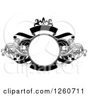 Black And White Ornate Grungy And Flourish Swirl Frame