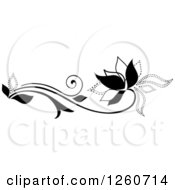Black And White Flower Design Element