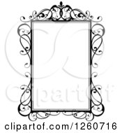 Black And White Frame With Swirls