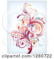 Clipart Of A Colorful Splash Royalty Free Vector Illustration