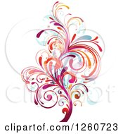 Clipart Of A Colorful Splash Royalty Free Vector Illustration by OnFocusMedia