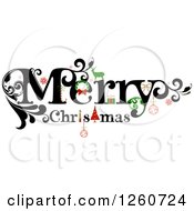 Clipart Of A Merry Christmas Greeting Royalty Free Vector Illustration by OnFocusMedia