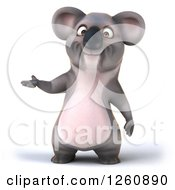 Clipart Of A 3d Koala Presenting Royalty Free Illustration