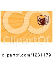 Clipart Of A Man Carrying A Beer Keg Background Or Business Card Design Royalty Free Illustration