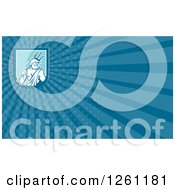 Clipart Of A Neptune Background Or Business Card Design Royalty Free Illustration by patrimonio
