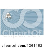 Clipart Of A Captain Using Binoculars Background Or Business Card Design Royalty Free Illustration by patrimonio
