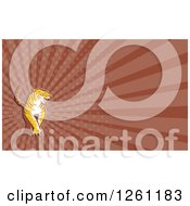 Clipart Of A Tiger Background Or Business Card Design Royalty Free Illustration by patrimonio