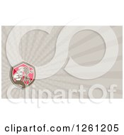 Clipart Of A Retro Filming Camera Man Business Card Design Royalty Free Illustration