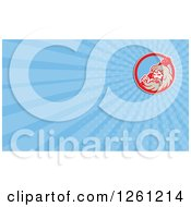 Clipart Of A Retro Hercules Business Card Design Royalty Free Illustration by patrimonio